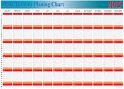 Stock Illustration of planing chart of all daily monthly year 2015