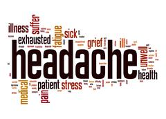 Headache word cloud Stock Illustration