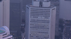 Aerial Tokyo city Metropolitan Government Building Japan  - stock footage