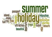 Stock Illustration of summer holiday word cloud