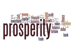 prosperity word cloud - stock illustration