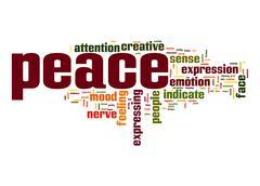 peace word cloud - stock illustration