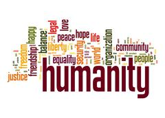 Humanity word cloud Stock Illustration