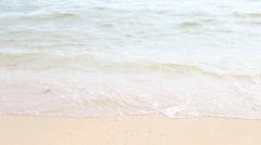 Waves Gently Splashing On Fine Sunny Day - stock footage