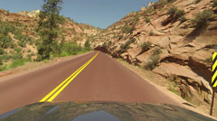 Zion National Park driving tunnel POV HD Stock Footage