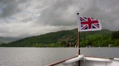 Windermere Lake steamer POV sailing north Stock Footage