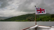 Stock Video Footage of Windermere Lake steamer POV sailing north