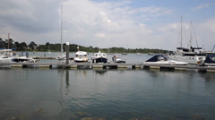 Lymington Hampshire England uk on the Solent near the New Forest Stock Footage