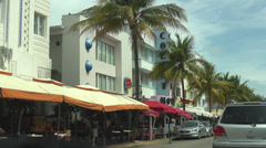 Driving on Miami South Beach - stock footage
