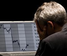 financial crises - stock photo