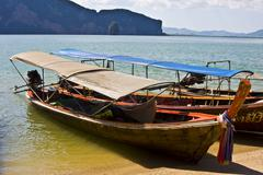 Longboats - stock photo