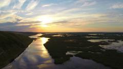 Danube delta aerial view Stock Footage