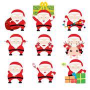 Santa claus christmas cards Stock Illustration