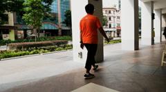 4k Ultra HD time lapse video of pedestrian walkways, Singapore(TL-WALKWAY 2) Stock Footage