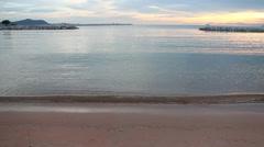 Nice Sunset On The Beach - stock footage