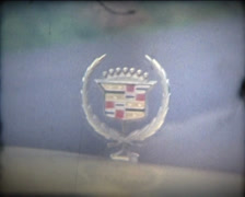 SUPER 8 1979 cadillac hood ornament Stock Footage