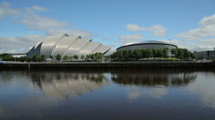 The armadillo and the hydro, glasgow, scotland Stock Footage