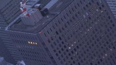 Aerial close up Metropolis Tokyo city Skyscrapers Shinjuku Japan Asia Stock Footage