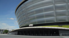 Detail of the secc hydro concert hall, glasgow, scotland Stock Footage