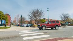 Street Corner on Main Street Hendersonville, North Carolina Stock Footage