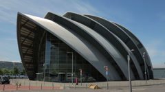 The armadillo clyde auditorium, glasgow, scotland Stock Footage