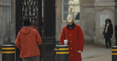4K video of a royal horse guard on Whitehall in London Stock Footage