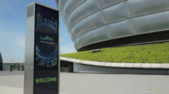 The secc hydro concert hall, glasgow, scotland Stock Footage