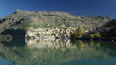 Sunken Village Halfeti in Eastern Turkey Stock Footage