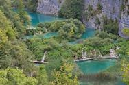 Stock Photo of pltvice lakes in croatia