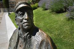 Stock Photo of poet statue