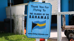 Bahamas private aviation Stock Footage