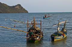 Bay of Prachuap Khiri Khan - stock photo