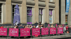 Cafe, gallery of modern art at royal exchange square, glasgow, scotland Stock Footage