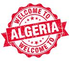 Stock Illustration of welcome to algeria red grungy vintage isolated seal