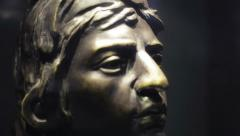 Statue of Aztec Emperor Stock Footage