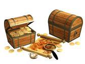 Pirate map Stock Illustration