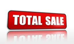 total sale red banner - stock illustration