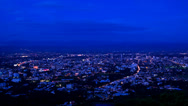 Stock Video Footage of Time lapse Chiang Mai View Evening Tilt Down