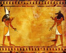 Anubis and Horus Stock Illustration