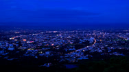 Stock Video Footage of Chiang Mai View Evening Tilt Up