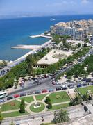 Aerial view to mediterranean city Stock Photos