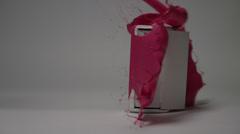 Color Splatters - Pink Speaker - stock footage
