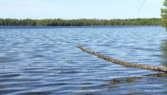 Panoramic view of Cyprus lake, Canada Stock Footage