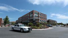 Urban St George Utah Police car round about garden art HD Stock Footage