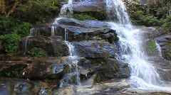 Monta waterfall Doi Suthep, Chiang Mai, Thailand's natural forests. - stock footage