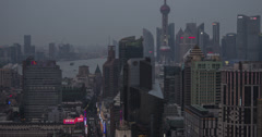 Nanjing and Bund Stunning Day to Night 4K Stock Footage