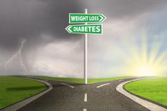 guidepost to weight loss - stock photo
