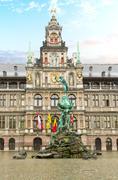 Stadhuis (city hall), Antwerpen Stock Photos