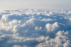 View at clouds - stock photo