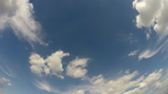 White clouds and cirrus in blue sky - time lapse Stock Footage